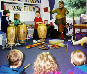 Drum class with kids